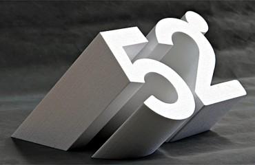 3D REKLAMA, 3D nápisy loga a 3D písmena.  Polystyrenové nápisy